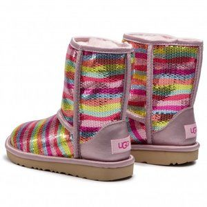 UGG Classic II Mural Rainbow Sequin Sheepskin Boot